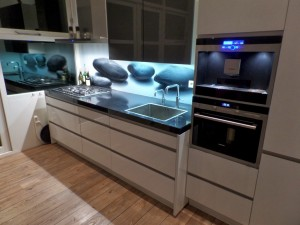 Glazen keukenachterwand