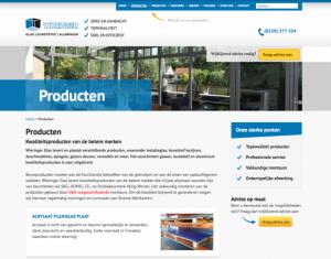 Nieuwe website producten