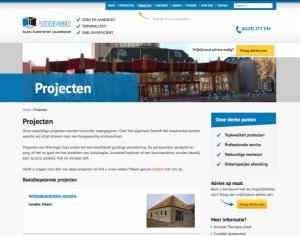 Nieuwe website projecten